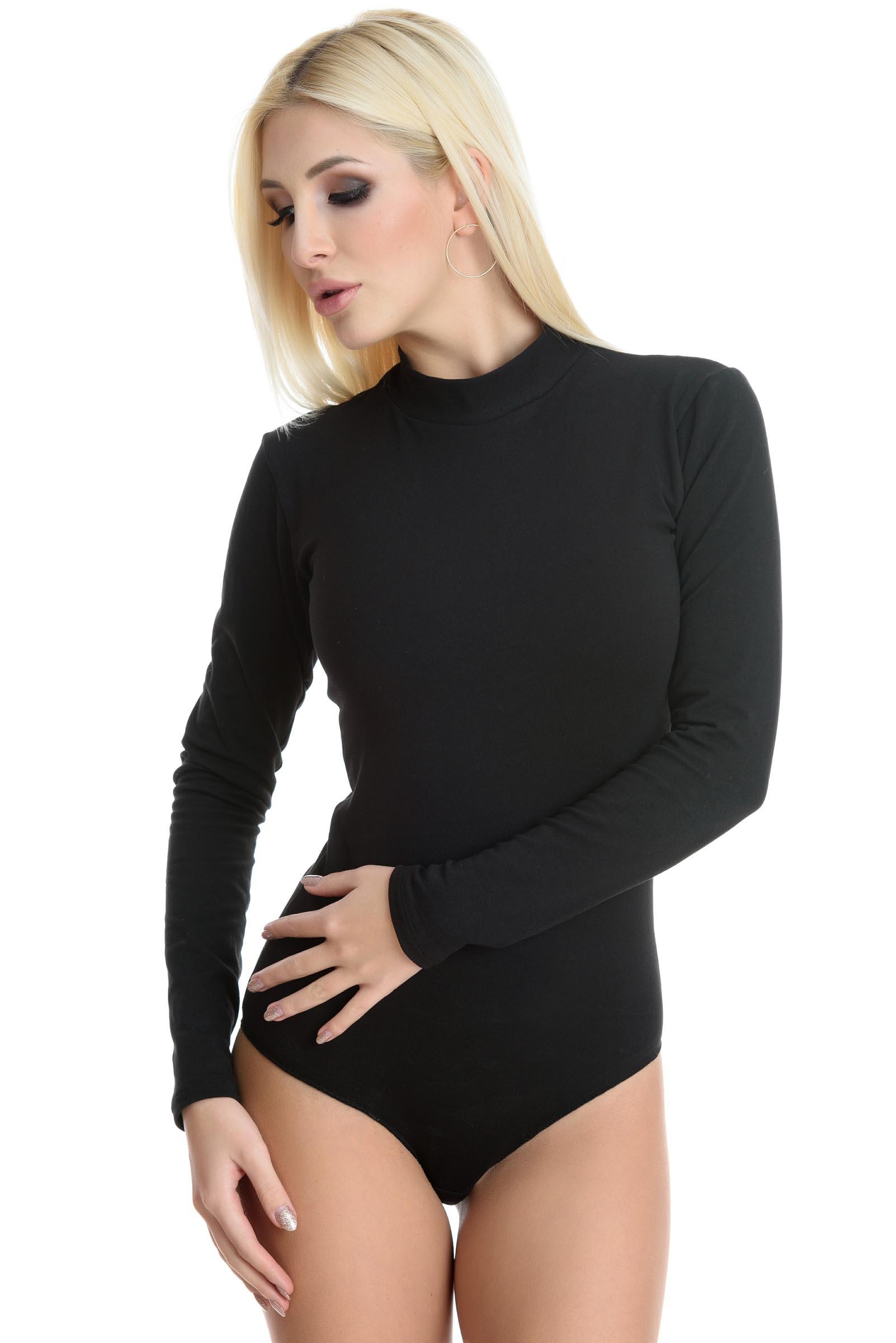 Evoni Thermo Langarm-Body mit Halbkragen