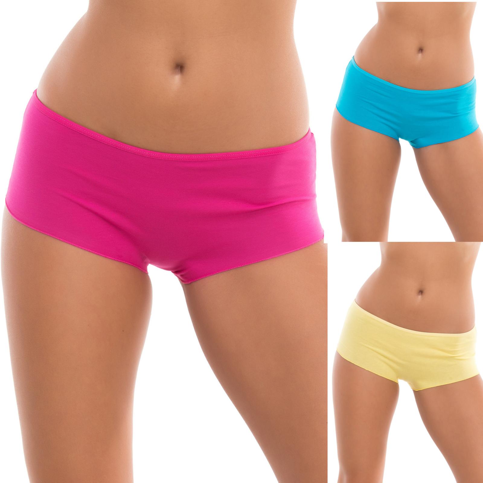3er-Set Evoni Brazilian Panties - Pink, Gelb, Türkis