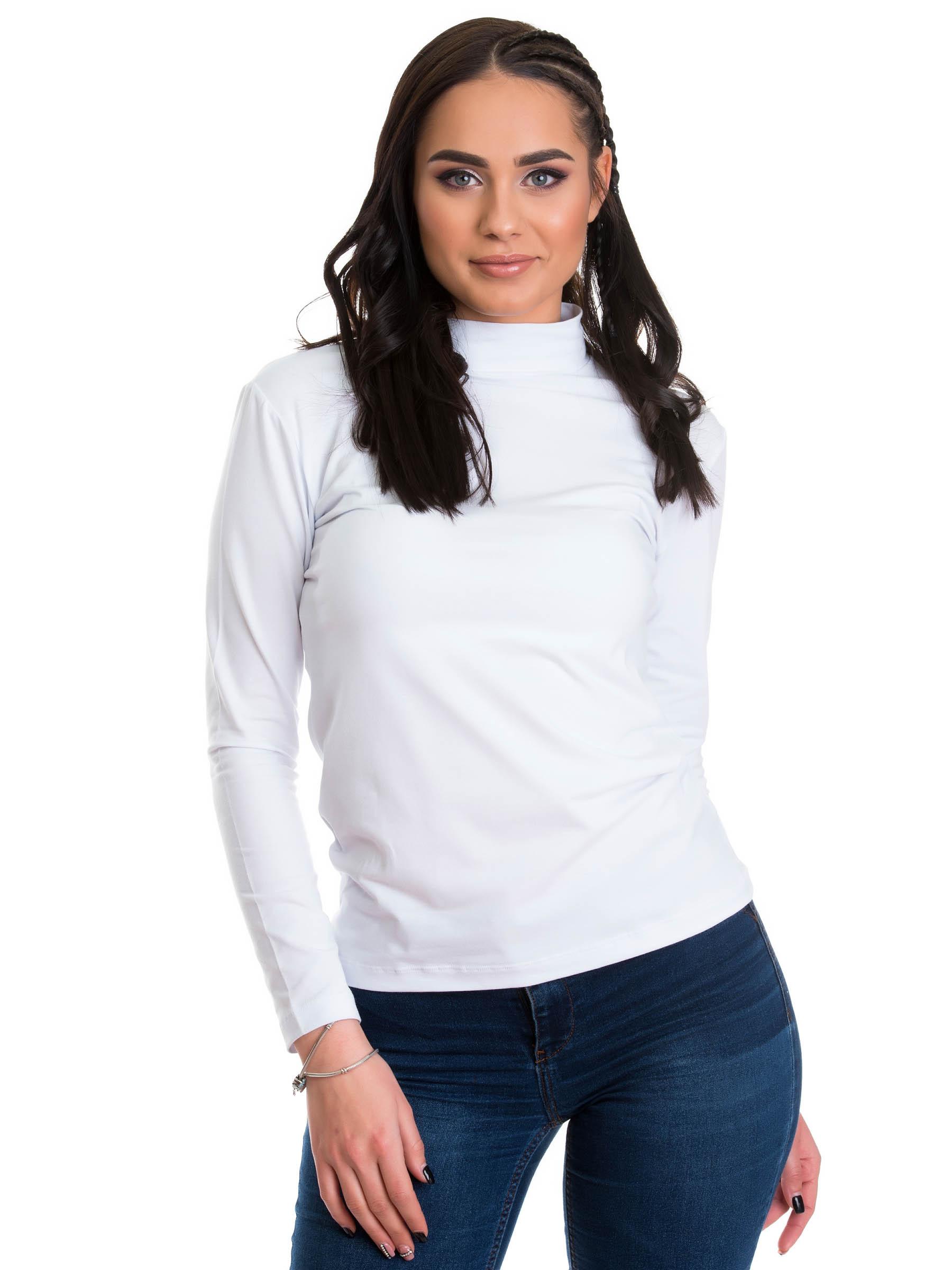 Evoni Langarm-Shirt mit Halbkragen