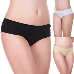 3er-Set Evoni Brazilian Panties - Schwarz, Weiß, Haut