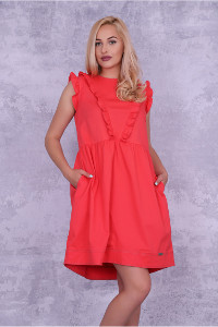 NEGATIVE romantisches Kleid in Coral
