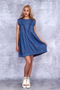 NEGATIVE romantisches Jeanskleid